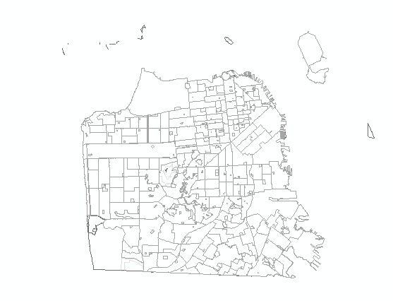 Census Tracts after Clip using an Outline of the San Francisco Bay