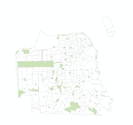 Revised Census Tracts and San Francisco City Parks