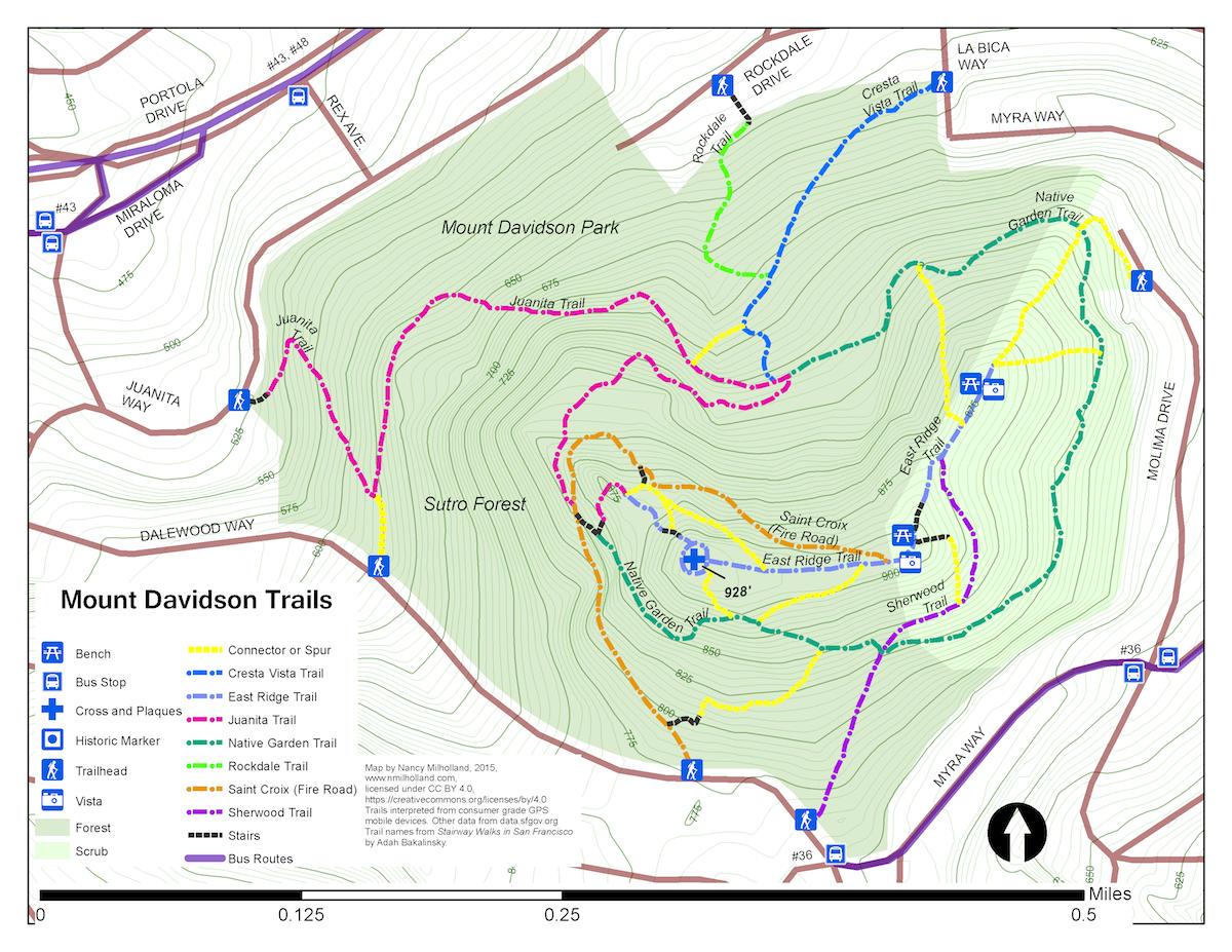 Mount Davidson Trail Map Image