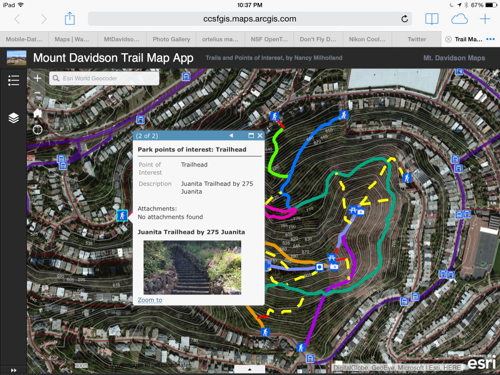 Mt. Davidson App on iPad