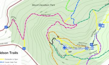 Mt Davidson Trail Map Excerpt
